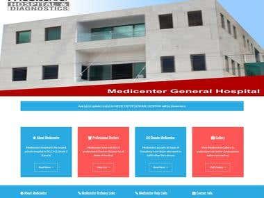 Medicenter Hospital | HTML CSS JS PHP Based Website
