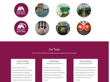 Motivators Group OLD Website | With Management System