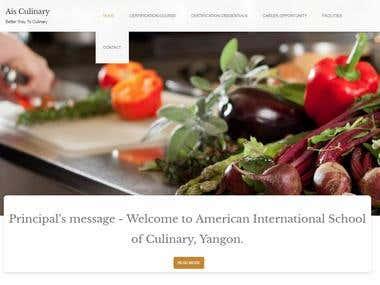 WordPress Website Design http://aisculinary.com/