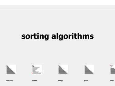 Tool for the study of ordering algorithms