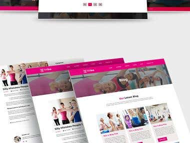 Triba - Yoga PSD Template