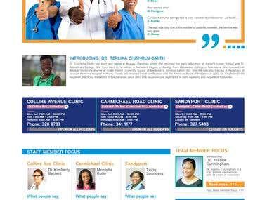 Presentation website for a clinic.