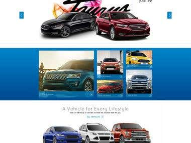 Presentation website for a Ford dealership.