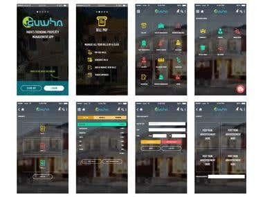 GUWHA App UI Design
