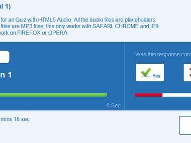 HTML5 Audio Quiz Prototype