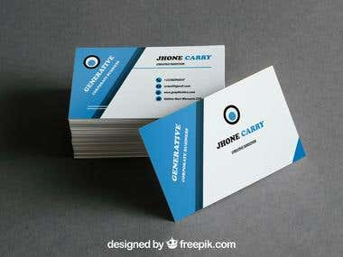 This is sample corporate business card...