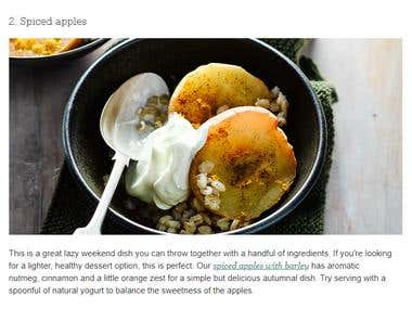Article related to food