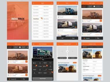 INDOTRUX App Design