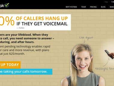 Call Center website