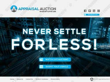 Appraisal Auction UI / UX Design for Website