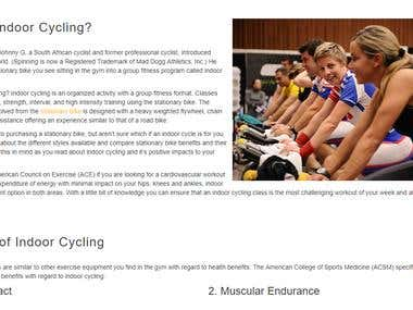 What is Indoor Cycling?