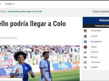 Eduard Bello podría llegar a Colo Colo