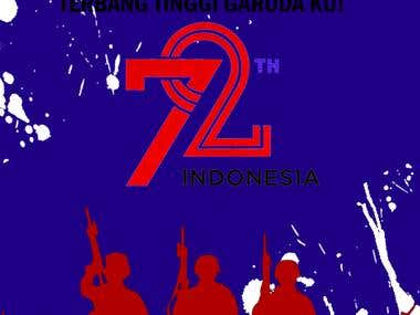 Indonesian independence poster