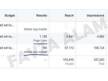 Facebook ADS For Mobile App Installs- Low Cost