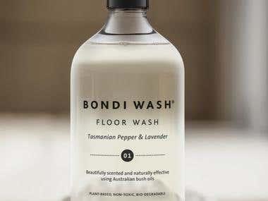 Bondi Wash - Product Label Design