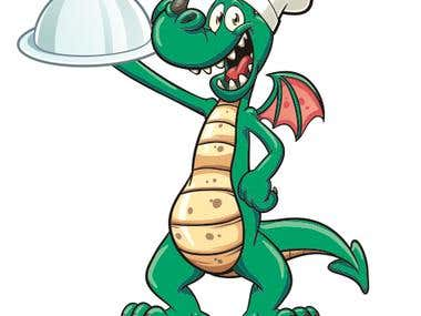 Dragon Chef Cartoon -- 2