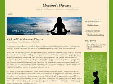 Meniere's Blog