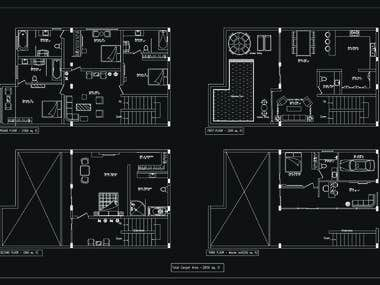 AUTO CAD DRAWING (BLUEPRINT, CAD DRAFTING, 2D DRAWING)