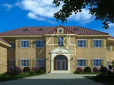 Villa 3D Exterior Render
