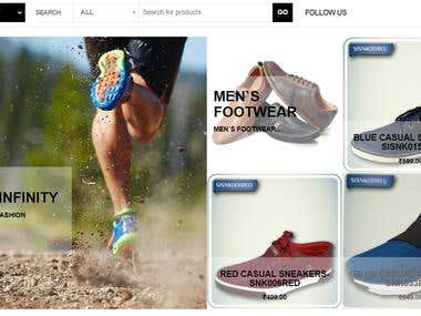 e-commerce website for Shoes.