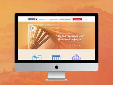 Novex Landing Design
