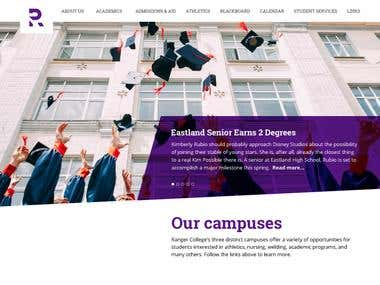 Website Redesign | Ranger College