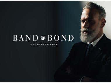 UI & UX/Web Design for Band & Bond