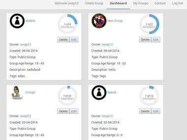 Forum management web application development
