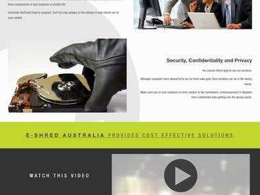 e-Shred Australia Website