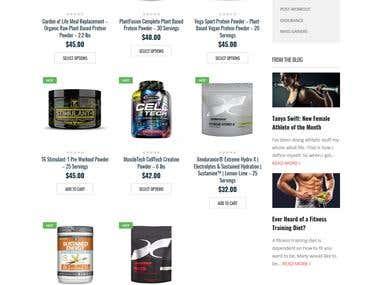 ProteinPowerShop Website