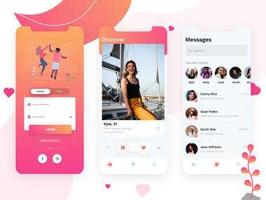 Dating App Moqup Design.