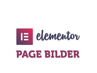 Build wordpress pages using Elementor Page builder