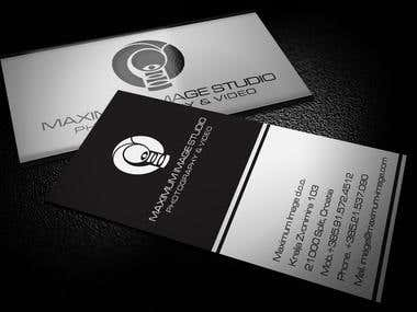 Busienss Cards for Maximum Image Studio