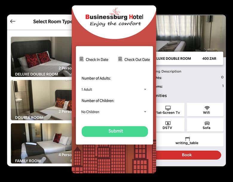 Hotel Booking   Business Burg Hotel   Freelancer