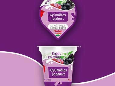 Yoghurt label design