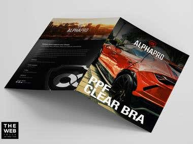 Bifold PPF Clear Bra Graphic Design