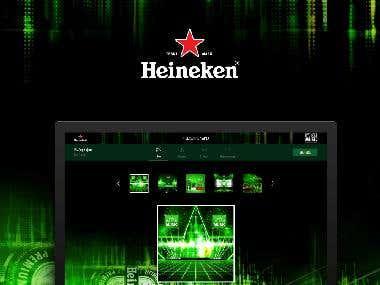 Heineken. Constructor of bunners