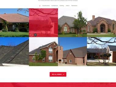 Design a Website Mockup- Roofing companies