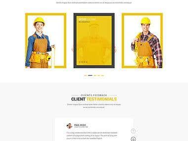 Design a Website Mockup- Construction companie