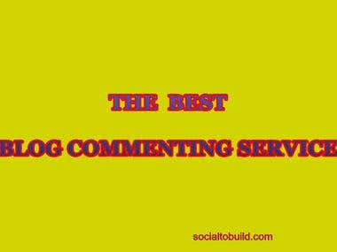 BLOG COMMENTING SERVICE