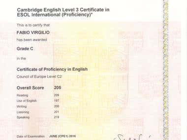 5. Certificate of Proficiency in English - Level C2