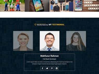 personal portfolio page