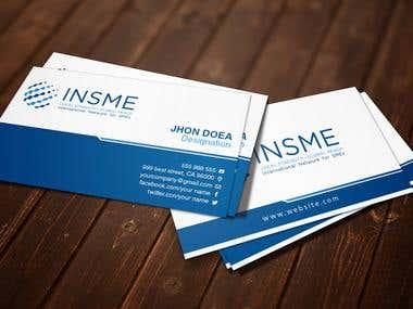 Business Card Design For INSME
