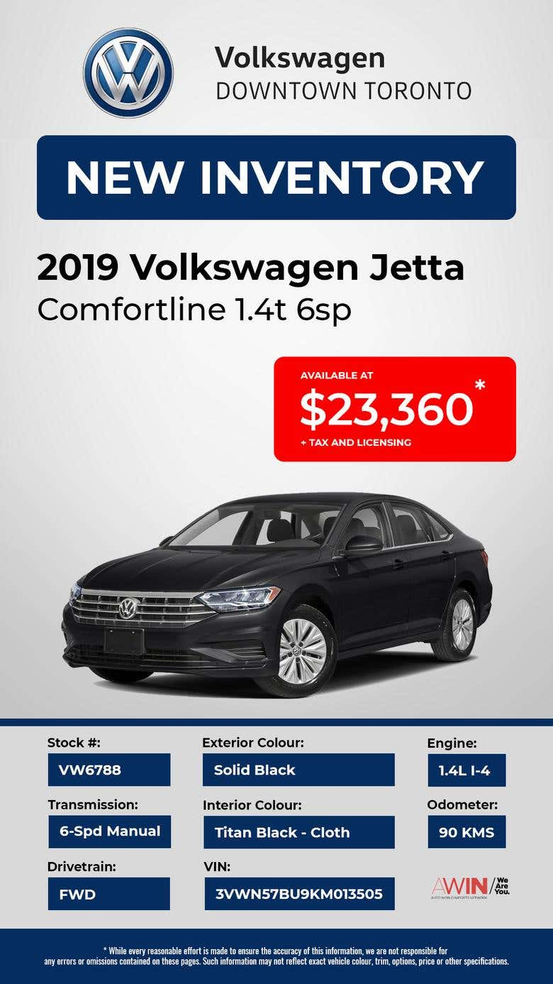Volkswagen Downtown Toronto >> Volkswagen Downtown Toronto New Inventory Template