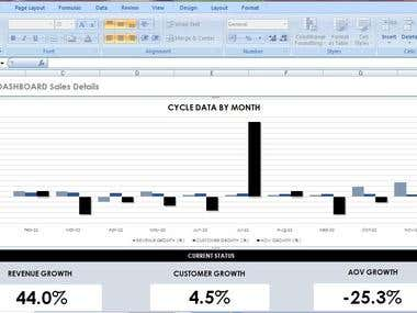 MS EXCEL Dashboard