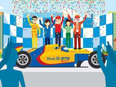 Illustration Asset for 'BTN Value' motion graphic video