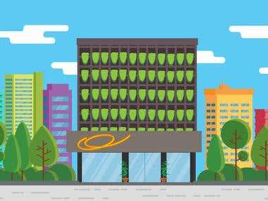 Illustration Assets for 'BTPN Mendaki' motion graphic video