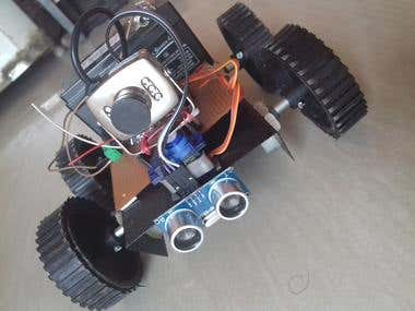 Bluetooth Controlled Spy Robot
