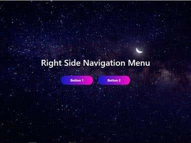 Custom designed fully responsive navigation drawer Menu.
