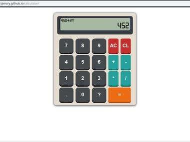 Simple Math Calculator